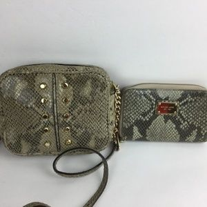 Michael Kors SET Crossbody Bag + wallet Snake
